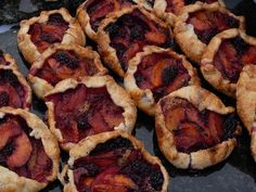 Peach and Blackberry Galettes