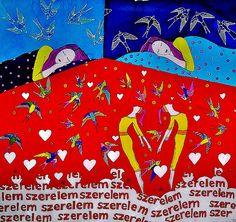 Szerelembe estünk 85*85cm www.somogyireka.hu