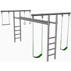 how to build monkey bar set