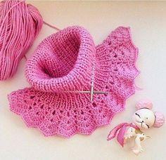crochet & knitting , handmade , handicraft, creative ideas, - Lilly is Love Bandeau Crochet, Crochet Lace, Crochet Stitches, Free Crochet, Poncho Au Crochet, Bonnet Crochet, Crochet Collar, Baby Knitting Patterns, Crochet Patterns