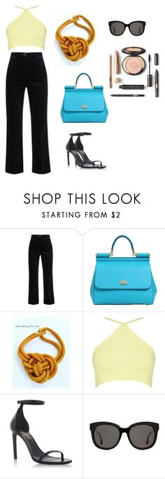 """""""Sem título #321"""" by olivemontgomerie on Polyvore featuring moda, M.i.h Jeans, Dolce&Gabbana, Yves Saint Laurent e Gentle Monster"""