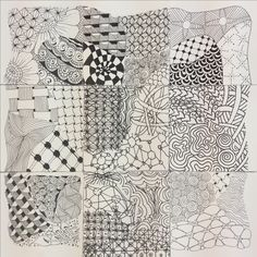 Zentangle Ensemble by members of The Zen Drawing Club of Morgan Hill