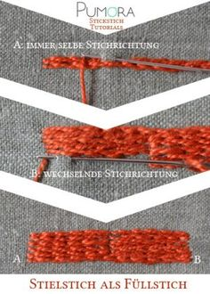 Stem Stitch as a Fill Stitch Tutorial