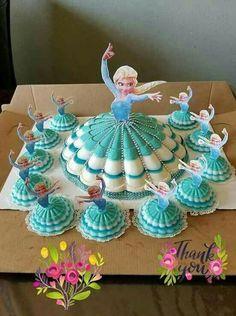 dessert diy thanksgiving crafts for kids - Kids Crafts Disney Frozen Birthday, Frozen Theme, Frozen Party, Frozen Cake Pops, Elsa Birthday Cake, Frozen Cupcakes, Ladybug Cupcakes, Kitty Cupcakes, Snowman Cupcakes