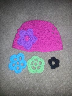 Hat with interchange able flowers