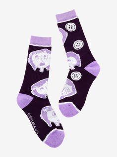 Purple Toes, Pastel Purple, Dark Purple, Striped Gloves, Girls Socks, Coraline, Hot Topic, Crew Socks, Stripes