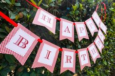 Happy Birthday Banner from a Little Red Riding Hood Birthday Party on Kara's Party Ideas | KarasPartyIdeas.com (9)