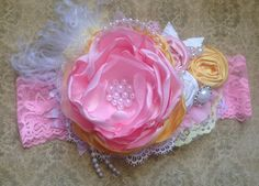 Spring Princess couture headband/over the top by ChloeRoseCouture