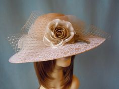 Gold Floral and Lace Straw Hat by BeABride on Etsy, $65.00