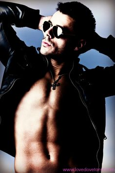 Picture of handsome young shirtless man in leather jacket and sunglasses, studio shot stock photo, images and stock photography. Dating Advice For Men, Shirtless Men, Studio Shoot, Handsome, Leather Jacket, Sunglasses, Jackets, Shopping, Studded Leather Jacket
