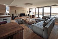 Slovakian Apartment Interior Design Plays on Perspective Modern Interior Design, Interior Design Inspiration, Interior Architecture, Minimalist Interior, Contemporary Architecture, Daily Inspiration, Design Ideas, Design Apartment, Apartment Interior