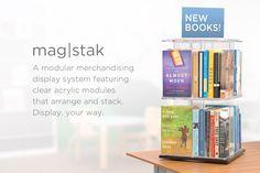magstak™ AV storage, AV display, modular storage towers, face out display,   3branch