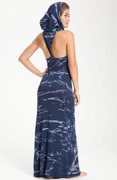 $118 - Soul, Mind, Breath, Life Hooded T-Back Maxi Dress