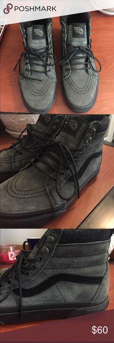 2efc8168936 Vans Grey and black vans Sk8- Hi Pro. They have only been worn a