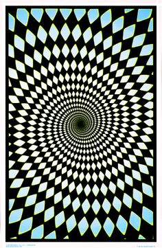 Op art black light posters
