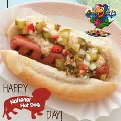 It's National Hot dog day, enjoy. July 23rd #NationalHotDogDay