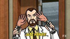Discover & share this Jazz Hands GIF with everyone you know. GIPHY is how you search, share, discover, and create GIFs. Archer Tv Show, Archer Fx, Archer Meme, Archer Funny, Archer Quotes, Hand Gif, Sterling Archer, Why Questions, Danger Zone