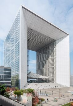 La Grande Arche at La Defense district in Paris France