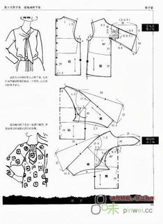 Des centaines de tuto en schémas pour modifier un patron basic Моделирование… Pattern Cutting, Pattern Making, Sewing Patterns Free, Clothing Patterns, Blouse Patterns, Skirt Patterns, Coat Patterns, Sewing Hacks, Sewing Tutorials