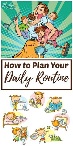 How to Plan a Powerful Daily Routine or Rhythm - - A Waldorf daily rhythm is a daily routine that creates a framework for your day to strengthen habits and increase productivity! Get our free weekly planner! Routine Planner, Planner Tips, Free Planner, Weekly Planner, Evening Routine, Night Routine, 1st Birthday Cards, Parenting Advice, Getting Organized