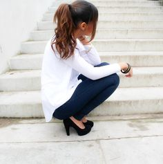 White shirt casual look #ootd