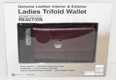 Kenneth Cole Reaction Genuine Leather Interior & Exterior Ladies Trifold Wallet by Kenneth Cole. $16.99. Product is brand new, still in box.