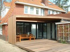 Geerts bouwbedrijf | aanbouw Extension Veranda, Glass Extension, Dining Corner, Exterior Remodel, House Extensions, Garden Structures, Cladding, Architecture, My Dream Home