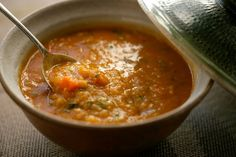 Red Lentil Soup with Lemon - made this last night and it is hands down my FAVORITE soup!