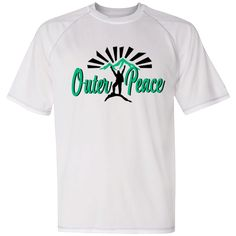 """""""Outer Peace"""" Champion Athletic Dri-Fit T Shirt: - polyester Double Dry® flatback mesh; Reflective - Open-hemmed waist, self-fabric collar and neck tape - Low contrast color flatlock stitching - Dri Fit T Shirts, Hiking Fashion, Champion, Graphic Tees, Peace, Athletic, Contrast Color, Shopping Mall, Mother Nature"""