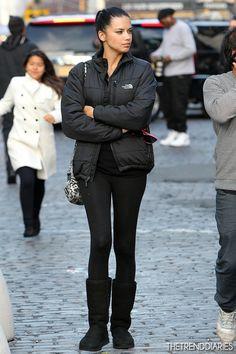 Adriana Lima Street-Style | Adriana Lima out in New York City, New York - December 4, 2012