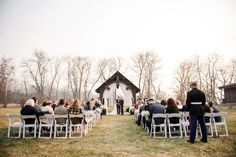 A fall military ceremony in the Appalachian Mountains. Image: tracyshoopmanphotography.com