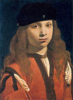 Giovanni Antonio Boltraffio, Portrait of a Youth, c. 1495-8