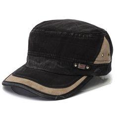 c0b9dc3d3f1 Unisex Cotton Blend Military Washed Baseball Cap Vintage Army Plain Flat  Cadet Hat For Men Women - Banggood Mobile