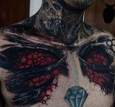 WEBSTA @ matiasfelipe_ds - En progreso... 2 sesiones #coveruptattoo #bio #blackandwhite #tattoo #chile