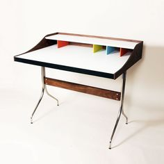 Compartment Desk | a great pop of color for your workspace