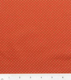 Autumn Inspirations Pin Dot Rust Metallic Fabric