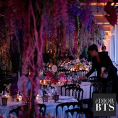 Reminiscence about the Spring-Summer 2014 Ready-to-Wear show, where thousands of delicate flowers adorned the tables on the rooftop of Club Costes by Albane #diorbts #Diorcannes #Cannes2014