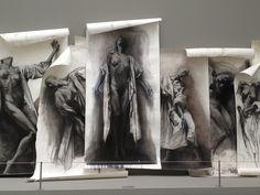 Ernest Pignon-Ernest exhibitioin piece at Palais des Beaux Arts de Lille, France. Hauntingly beautiful.