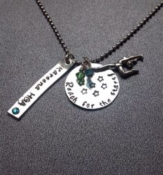 A personal favorite from my Etsy shop https://www.etsy.com/listing/205851018/personalized-gymnastics-necklace