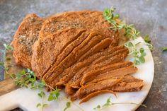 Vegan Deli Sliced Turkey Breast — 86 Eats Sliced Roast Beef, Sliced Turkey, Vegan Cabbage Rolls, Vegan Turkey, Beef Pot Pies, Vegan Meatloaf, Steak Dishes, Vegans