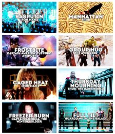 Working titles for Marvel films