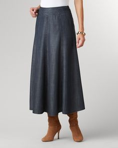 Tencel® boot skirt | Coldwater Creek -- can't tell if love or if dangerously close to Mennonite.