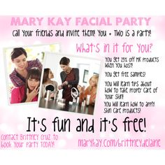 mary kay promotional flyers | mary kay flyer templates | start, Party invitations
