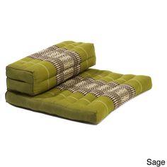 THAI SEAT ORGANIC KAPOK 100% FILLED YOGA MEDITATION CUSHION PILLOW (SAGE)   Home & Garden, Home Décor, Pillows   eBay!