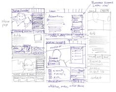sketching-6-up  The 6-up template encourages people to move beyond their initial ideas and push for new ones. It can get pretty messy.