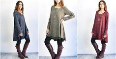 Chiffon Layered A Line Knit Dress S to XL