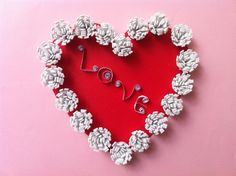 DIY Valentine's Day Decoration - Beautiful Heart to Hang on Your Door