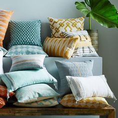 Stripe Fringe Pillow Cover - Horseradish
