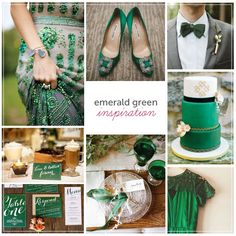 emerald green wedding inspiration | 2013 Spring Weddings | Pinterest ...