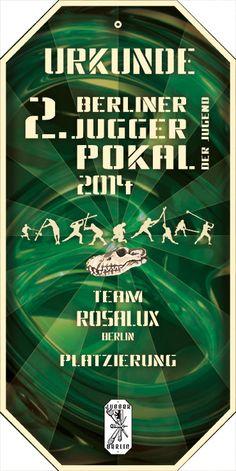 urkunde 2. Berliner JuggerPokal Der Jugend 2014